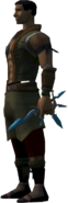 Off-hand ornate dagger equipped