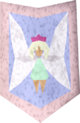 Steel kiteshield (Fairy) detail