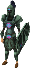 Adamant heraldic armour set 1 (sk) equipped