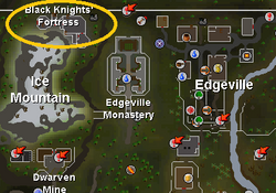 Black Knights' Fortress (historical) location