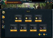 Community (Gielinorian Giving II) interface 2