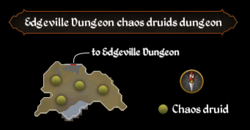 Edgeville Dungeon chaos druids dungeon map