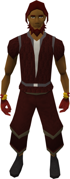 Flame gloves equipped