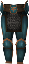 Rune platelegs (Bandos) detail