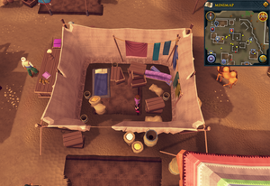 Simple clue Al Kharid tent boxes