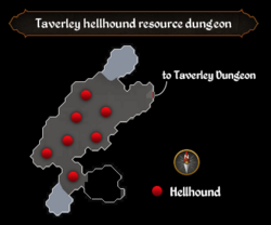 Taverley hellhound resource dungeon map