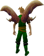 Clawdia Wings equipped