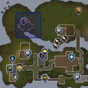 Entrana Dungeon entrance location