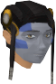Highland war paint (blue, female) chathead