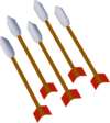 Mithril fire arrows (unlit) detail