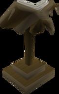 Teak eagle lectern detail