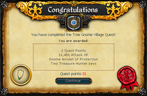 Tree Gnome Village reward