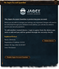 JAG Settings Interface