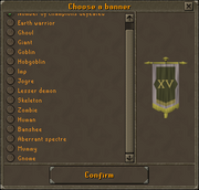 Banner carrier interface