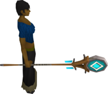 Banner of Seren equipped