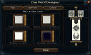 Clan motif designer