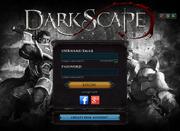 DarkScape login screen