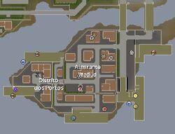 Distrito dos Portos mapa