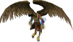 Armadylean bodyguard (aviansie mage)
