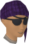 Bandana and eyepatches (purple) chathead