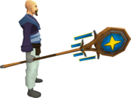 Banner of Saradomin (tier 2) equipped