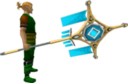 Banner of Seren (tier 4) equipped