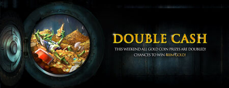 Double cash banner