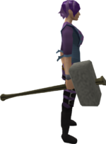 Granite maul equipped