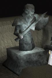 Keldagrim standbeeld klein