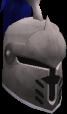 Steel heraldic helm (Arrav) chathead