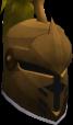 Steel heraldic helm (Money) chathead