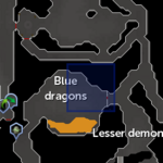 Taverley blue dragon resource dungeon entrance location