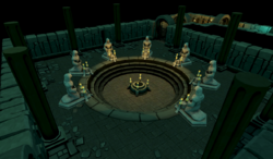 Paterdomus basement statues