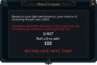 Pet chance failed