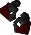 Ruby golem gloves detail