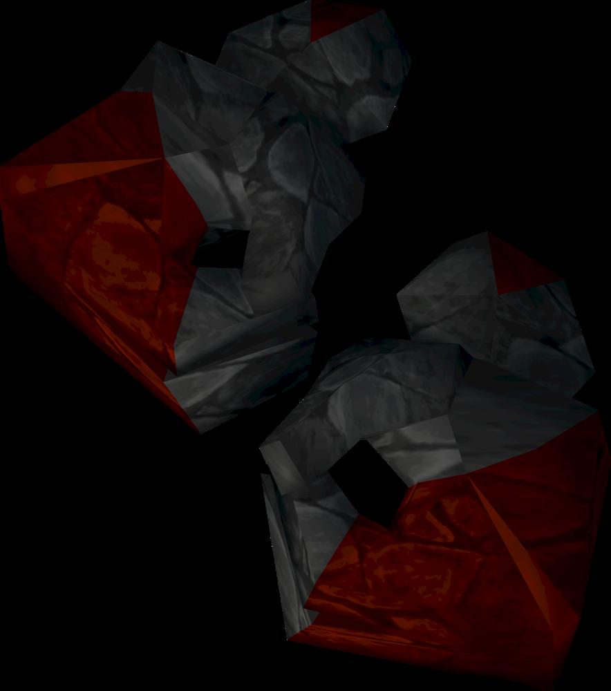Ruby golem gloves detail