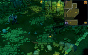 Scan clue Brimhaven Dungeon lower level south-east corner of bronze dragon chamber