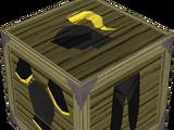 Black gold-trimmed armour set (lg)
