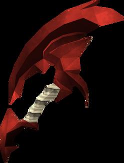 Dragon hatchet detail