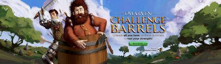 Dwarven Challenge Barrels head banner
