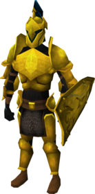 Gilded armour set (lg) equipped