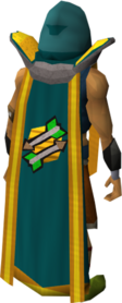 Retro fletching cape (t) equipped