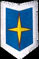 Rune kiteshield (Saradomin, heraldic) detail