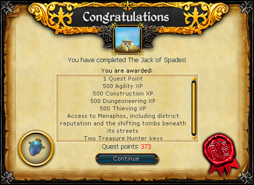The Jack of Spades reward