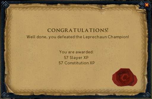 Leprechaun Champion reward