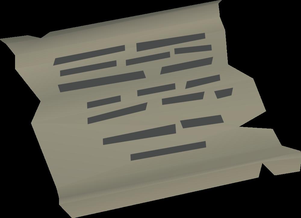 Ransom letter detail