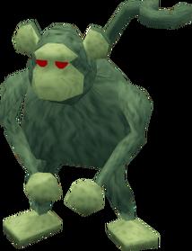 Zombie monkey greegree equipped