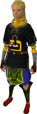 AbleGamers tunic equipped