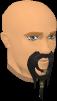 Fake pirate beard (grey) chathead