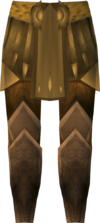 Golden warpriest of Armadyl greaves detail